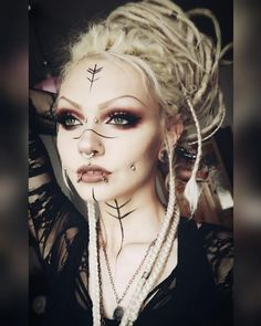 WGT last day 🙈. Only slept one hour and I hope it's not too visible 😂 . I probably will chill at the Heidnischesdorf - Hairstyle Lazy Girl Witchy Makeup, Gothic Makeup, Fantasy Makeup, Makeup Art, Beauty Makeup, Makeup Inspo, Eye Makeup, Viking Cosplay, Viking Costume