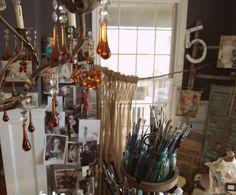 Where Jeanne's creativity happens ... her studio
