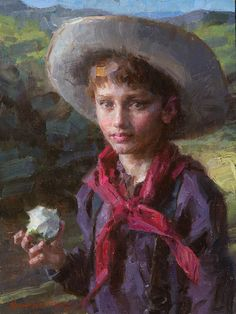 Young Ranch Hand -- by Morgan Weistling (1964-- American)