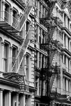 Black Stairs, White Stairs ..... Soho, New York City