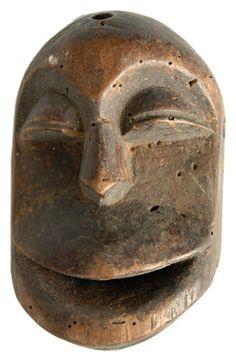 Vintage African Mask of Smiling Face, 1950s