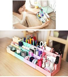 Cute and inexpensive makeup storage ideas
