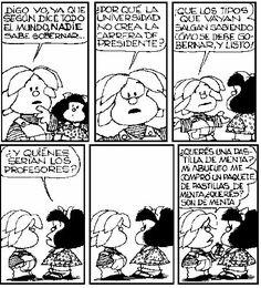 Mafalda Quotes on Mafalda Quotes, Sarah Andersen, Jim Davis, Humor Grafico, Love Can, Change The World, Sanrio, Comic Strips, I Movie
