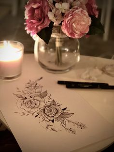 Draw, Table Decorations, Rose, Home Decor, Pink, Decoration Home, Room Decor, To Draw, Sketches
