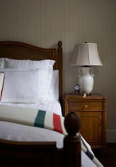 Muskoka Living Interiors with HBC blanket