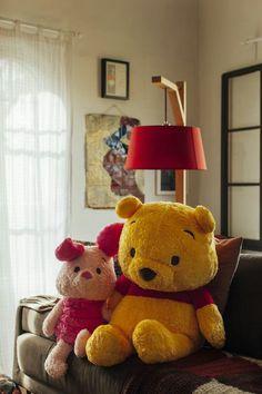 Winnie the Pooh & Piglet! Winnie The Pooh Plush, Winnie The Pooh Friends, Disney Stuffed Animals, Cute Stuffed Animals, Cute Disney, Disney Style, Eeyore, Tigger, Winnie The Pooh Pictures