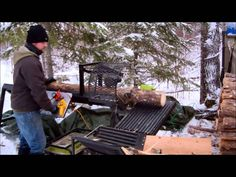 Learn a simple and easy method to cutting firewood with my homemade custom fabricated wood processor.