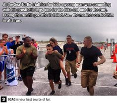 The Marines, restoring faith in humanity one triathlon at a time.