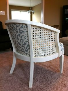 reupholstering a cane back chair