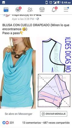 Fashion Ideas For Kids Easy Sewing Patterns, Clothing Patterns, Dress Patterns, Sewing Collars, Costura Fashion, Bodice Pattern, Sewing Blouses, Fashion Sewing, Dressmaking