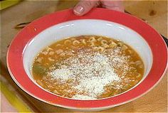 Pasta and Beans: Pasta e Fagioli from FoodNetwork.com