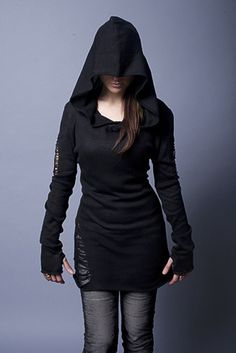 Widow Black Distressed Long Shirt - Is it sad that I love fall and winter fashion SO much more than spring and fall? I mean, you can do so much with winter/fall fashion. Summer and spring = variations of shorts and tank tops, really.