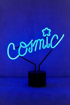 Slide View: Cosmic Neon Sign Table Lamp – – All For Decoration Blue Aesthetic Dark, Rainbow Aesthetic, Aesthetic Colors, Neon Wallpaper, Blue Wallpapers, Flower Wallpaper, Blue Photography, Le Grand Bleu, Neon Bleu