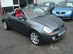 Ford Streetka Grey Top Down Red Int