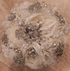 STUNNING Jeweled Brooch Bouquet by Elegantweddingdecor on Etsy, $185.00