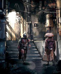 🤔What was your favorite scene?⬇️ Even The Mandalorian walking around looked badass! Mandalorian Poster, Mandalorian Cosplay, Star Wars Poster, Star Wars Art, Star Trek, Star Wars Concept Art, Star Wars Wallpaper, Boba Fett, Sci Fi Fantasy