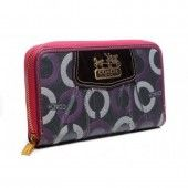 Purse Coach Madision Signature Pink Magenta Wallet U08006 $46.99 http://www.coachstyles.com/