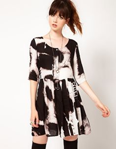Evil Twin | Evil Twin 'Shadow Of Doubt' Printed Dress at ASOS