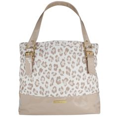 Christian Siriano neutral leopard print bag <3