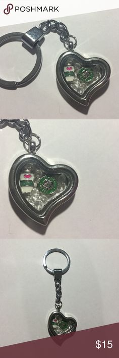 Starbucks Floating Charm Keychain Brand new floating Locket Keychain. The charms inside more around!! I have many different items available. Accessories Key & Card Holders