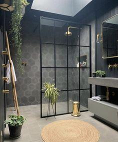 Bathroom Interior Design, Home Interior, Interior Plants, Modern Interior, Bert And May Tiles, Cosy Bathroom, Bathroom Goals, Master Bathroom, Bathroom Ideas
