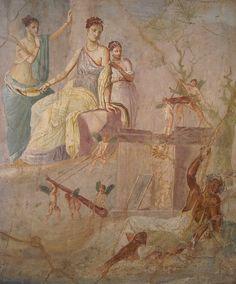 """""""Hércules y Onfale"""" (Pompeya, 1-79 d.C.), Museo Arqueológico, Nápoles Del post: harteconhache.blo..."""
