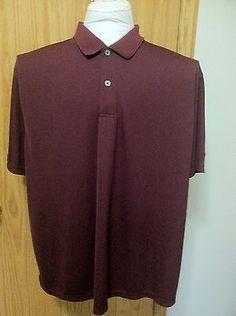 3XL Reebok Playdry Fabric Short Sleeve Polo Golf Shirt Maroon Burgandy Color
