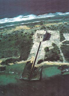Abandoned Dindon Bunker, Mururoa Atoll. Nuclear experiments