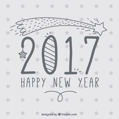 Sketchy new year background Free Vector