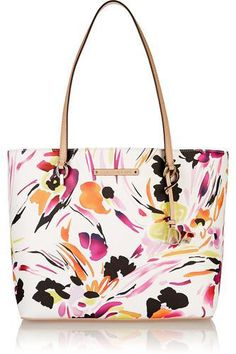 Ready To Go leather-trimmed printed faux leather tote #totebag #women #covetme #dianevonfurstenberg
