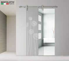 Porta scorrevole in vetro senza telaio 3245 - DECORO SOFFI - Bertolotto Porte