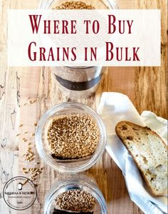 A homesteader prides themselves on having a well-stocked pantry and when you're making almost all your items from scratch and grinding your own flour, you need to know where to buy grains in bulk and which ones are the most versatile. I've been grinding my own flour and stocking grains in bulk for almost 10 years now and am sharing my favorite sources with you today. Wheat Bread Recipe, Healthy Grains, How To Make Bread, How To Make Flour, Flour Recipes, Grow Your Own Food, Bread Baking, Baking Tips, Sweet Bread