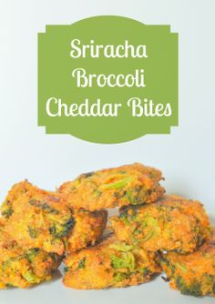 Sriracha Broccoli Cheddar Bites - Give your vegetables a little kick with Sriracha Sauce. These became an instant fave of my husband who does not like most vegetables. {The Love Nerds} #SrirachaRecipes #vegetablerecipes #broccoli