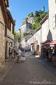Photo about The Rocamadour commune above the township in the Lot department in south-western France. Image of township, architecture, gras - 38659751 Rocamadour France, Walks, Westerns, Vectors, Street View, Sign, Stock Photos, Architecture, Image
