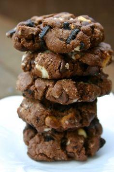 Triple Fudge Oreo Crunch Cookies. by shauna