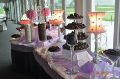 Designed for the kid at heart. A gourmet candy buffet to fit your special event provided by PMG Chocolatier in Niles, Ohio.