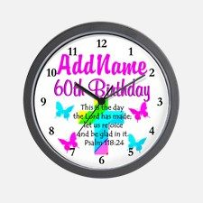 GOD LOVING 60TH Wall Clock Spiritual and uplifting 60th birthday T Shirts and gifts for the faith filled 60 year old. Take 20% Off Your Order Use Code: PADDY20 http://www.cafepress.com/heavenlyblessings/12705776 #60yearsold #Happy60thbirthday #60thbirthdaygift #Christian60th #happy60th #Personalized60th #60thprayer