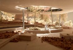 Model of proposed Maggie's Centre in Oldham, UK. Image © dRMM