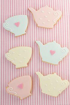 tea pot and tea cup cookies!