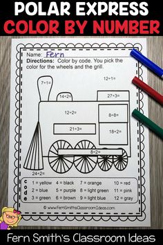 You will love the no prep, print and go ease of these Christmas Polar Express Color By Number Addition, Subtraction, Multiplication, and Division Christmas Themed Printables. This Christmas Polar Express Color By Number Addition, Subtraction, Multiplication, and Division Printables includes 12 pages for introducing or reviewing addition, subtraction, multiplication, and division. This bundle is perfect for differentiation in ESOL, ESL, Home Schooling and Special Education Classes. Christmas Color By Number, Christmas Colors, Christmas Themes, Fourth Grade, Second Grade, Classroom Management Tips, Addition And Subtraction, Home Schooling, Differentiation