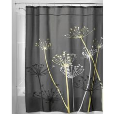 InterDesign Thistle Shower Curtain Color: Yellow