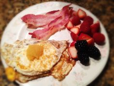 Eggs with Caviar, Bacon, and Berries: 10/17/13