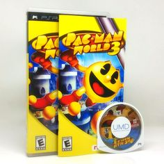 Pac-Man World 3 PlayStation Portable PSP game, comes complete in original case. Cleaned, tested and includes a FREE case protector! The classic gaming character Pac-Man is back for the third iteration Playstation Portable, Electric Shock, Pac Man, Mans World, Psp, Arcade Games, Games To Play, Third, Gaming