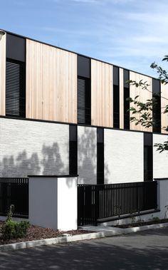 House design by Easst Architects, Poznan, Poland. Architecture Design, Industrial Architecture, Minimalist Architecture, Modern Architecture House, Facade Design, Modern House Design, Architectural Section, Facade House, Healthcare Design
