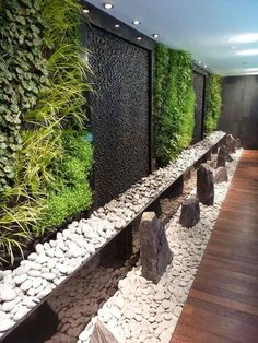 "Living wall with water feature ""Inamo restaurant green wall, Regent St"" Vertical Garden Wall, Vertical Gardens, Tropical Home Decor, Tropical Houses, Tropical Interior, Tropical Furniture, Tropical Colors, Backyard Fences, Backyard Landscaping"