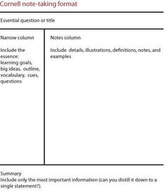 Word Templates And Cornell Note Taking  Just  Random