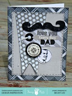 Becky Litz #Fancypantsdesigns #Swagger Father's Day Card