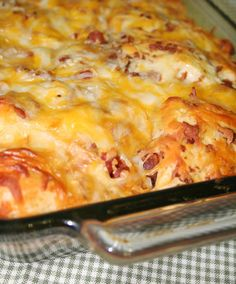 bacon cheese pull aparts (like a savory monkey bread)