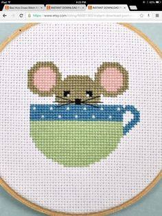 Mouse teacup