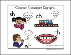 Free consonant digraphs cue card. Great for your small group instruction.